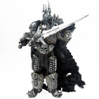 Wholesale World of Warcraft Lich King Arthas Death Knight FrostMourne Collection Action Figure Model quot