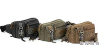 Wholesale Men s Waist Bag Jean Solid Color Canvas Leisure Outdoor Waist Pack Bag color