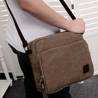 New Korean retro canvas bags men's shoulder bag women Large ...