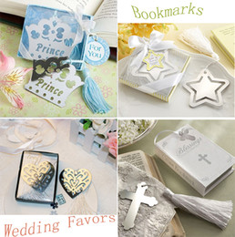 Wholesale Imperial Crown Five pointed Star Pierced Peach Heart Crosses Bookmarks Creative Metal Stationery Kids Gifts Wedding Favors