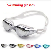 Wholesale Sports Swimming goggles Glasses Anti Fog UV Protection Water Sporting Swimming