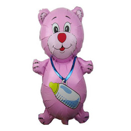 Beautiful Cute cartoon balloons Helium balloons milk bottle bear balloons Romantic for Proposal and toys for kids promotional