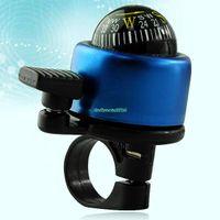 Cheap EN0403 Blue Bicycle Horns Metal Compass Bike Bell Ring Ball