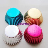 cupcakes cases - HOT SELL Mini gold silver blue pink foil cupcake cases papers muffin liners cake cups baking mould