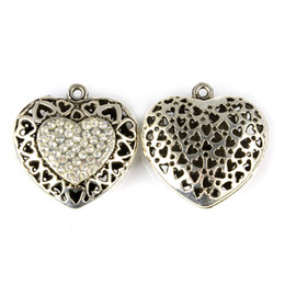 Love heart jewellery and scarves pendant with crystal stones 6pcs lot,PT-789