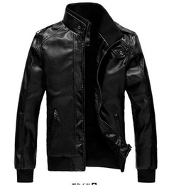Wholesale Spring leather Motorcycle racing jackets warm jackets leisure leather men s leather jackets pu jackets