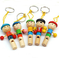 Wholesale Pirate Captain Series Lovely Puppet Whistles Cute Kids Toys Wooden Educational Toys XD169