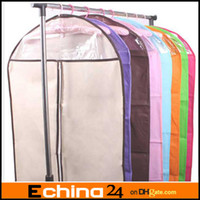 Wholesale 60 cm L Size Clothes Suit Dress Garment Dustproof Cover Bag Storage Bags Thicken