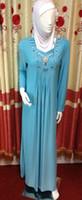 Wholesale Long Sleeve Crystal Black Kaftan Dubai Abaya hihab suit set Islamic clothing arabic clothing for muslim women clothing Kaftan with scarf