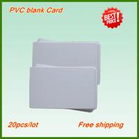 al por mayor impresoras de inyección de tinta gratis-Tarjeta libre de la identificación del espacio en blanco de la tarjeta en blanco de la venta al por menor 100pcs del envío libre, tarjeta de la inyección de tinta del vacío del Pvc para la impresora de la bandeja de la tarjeta del PVC / ID de la inyección de tinta de EpsonCanon