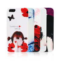 Wholesale Lovely Cartoon Painted Cell Phone Cases PC Girl s Printing Exquisite Appearance Mobile Phone Protective Shells For iphone4s V031