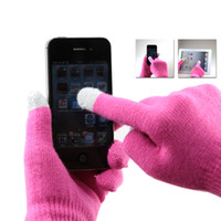 Wholesale FreeShipping capacitive touch screen thickening thermal plush lovers mobile phone touch screen gloves