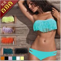 Women Bikinis Fringe perfect Hot Newest SEXY Woman Bikini Sets Fringe Swimwear Tassels Padded Girl Lady Swimming Swimsuit