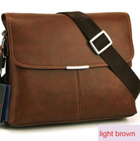 Wholesale 2013 fashion design men bags business leisure leather messenger bags briefcases cross section black dark brown light brown t5522