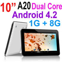 Wholesale 10 Inch Flytouch A20 Dual Core GHz Android Jelly Bean Tablet PC Capacitive Screen GB GB Dual Camera Wifi HDMI P Webcam