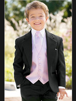 Wholesale Custom Made Tuxedo Boys Suits New Black Tuxedo Boys Formal Suit for Suit