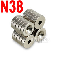 Wholesale x Round Ring N38 Magnet x mm quot x quot Hole mm Rare Earth Neodymium