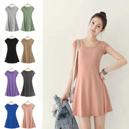 Wholesale 2013 NEW fashion women plus size summer black pink green khaki purple deep grey grey blue Bordeaux one piece short sleeve dress