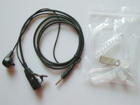 air surveillance - Black Surveillance FBI Style Covert Acoustic Air Tube Mic Earpiece Headset Earphones For Iphone HTC Samsung Radio