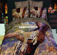 Adult Twill Printed luxury animal bedding set 3d 100% cotton bedclothes 4pcs bed linen KING queen bedcover bed sheet duvet cover set Free fast ship