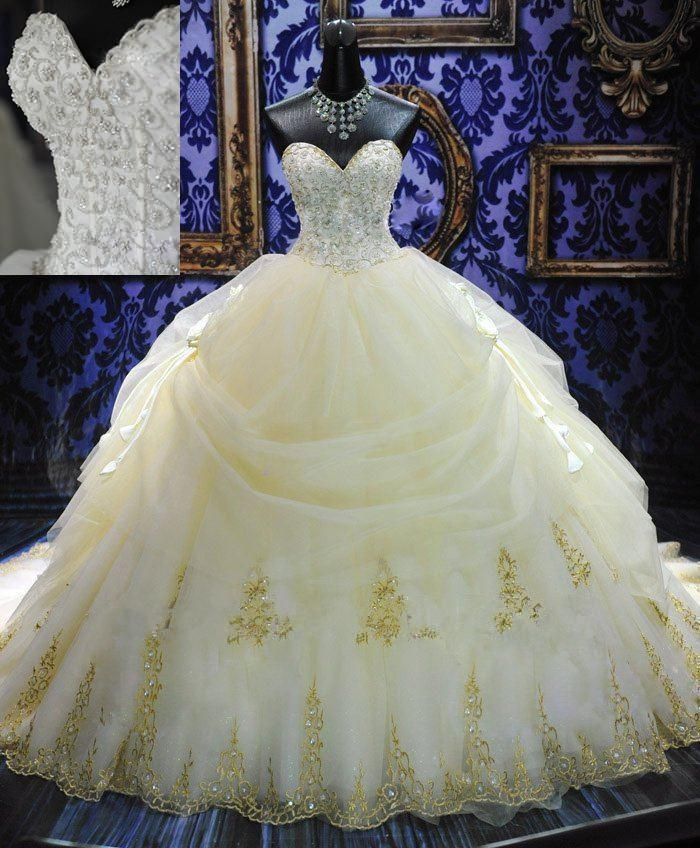 2013 deluxe royal puffy white sweetheart lace up long for Big white wedding dresses