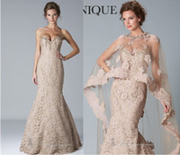 Wholesale 2013 Elegant Mermaid Sweetheart Lace Crystal Shawl Bolero Wrap Jacket Floor Length Prom Evening Mother of the Bride Dresses
