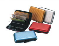 Wholesale Business ID Credit Card Wallet Holder Waterproof Antimagnetic Aluminum Metal Case Box C0894
