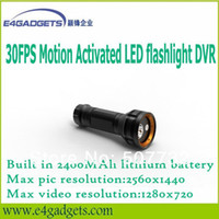 Wholesale Korea Most Popular High Quality Low Light Brown Motion Detection LED flashlight DVR with MP3 Player