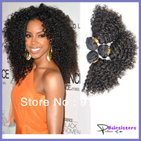 Wholesale unprocessed virgin malaysian hair weave A virgin Afro Kinky curly hair mix length inch natural color