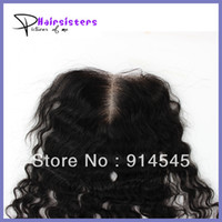"""Natural Color Babyhair Malaysian Hair Virgin Malaysian Hair curly closure Lace top closures 4x4 10""""-20""""middle parting bleached knots free shipping,natural color can be dyed"""