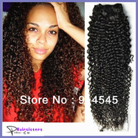 Wholesale A pure virgin Malaysian brazilian mongolian kinky curly hair extensions mixed inch natural color no tangling no shedding