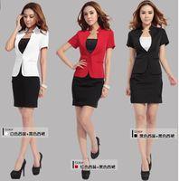 Wholesale Summer career suits Women Dress Suits The uniform dress OL formal wear Red White Black