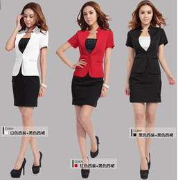 Wholesale Summer career suits Women Dress Suits The uniform dress OL formal wear Red White Black