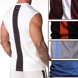 Wholesale Men Tank Tops Sexy Male Mens Vest Underwear Tank Top Sleeveless Round Neck Home Casual Sports Run Jogging Tops T Shirts S M L Size Sample