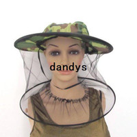 Wholesale Midge Mosquito Fly Insect Hat Fishing fisherman Camping Mask Face Protect Cap Cover bucket sun hat