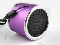 Universal aluminum speaker wire - Z Portable MINI Wired Speaker Multifunction Aluminum Metal MP3 Player Subwoofer Micro SD TF Card USB U Disk FM LED Light Cylinder Q2