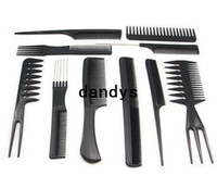 Wholesale set Salon Barbers Hair Styling Hairdressing hair accessories Plastic Comb Stylist Set Black Tool
