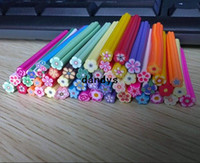 Wholesale Fashion Nail Art Fruit and Flower Decoration Slice Rod Stick Cane DIY free blade