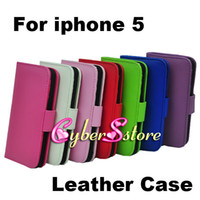 Wholesale Promotional Price Wallet Leather Folding Flip Case Cover With Photoframe Credit Card Holder For iphone G