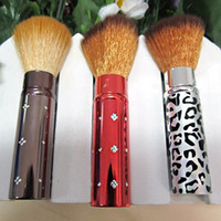 Wholesale for lady beauty care make up brush red new plastic