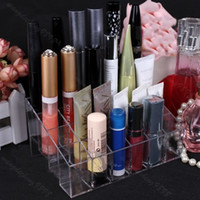 Wholesale Clear Trapezoid Lipstick Makeup Display Holder Case Cosmetic Organizer Stand