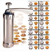 press machine - Cookie extruder Press Machine Biscuit Maker Cake Making Decorating Gun Kitchen Tools Set
