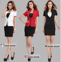 Wholesale women s skirt work wear dress set twinset skirt suits for women career dress DK800B