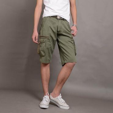 2017 2015 Fashion Hot Mens Board Shorts Green Khaki Cotton 28/29 ...