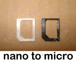 Nano Sim adapter, Nano to Micro Sim Card Adapter Adaptor for iPhone 4G 4S 5G 6G 6Plus Samsung Nokia Wholesale 5000pcs lot