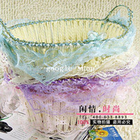 Wholesale freeshippingThe the deep barrels oval the binaural basket manufacturers direct selling rattan lace Storage Basket remote Ba