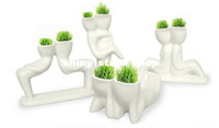 Wholesale Creative Gift Plant Hair man X lover Plant Bonsai Grass Doll Office Mini Fantastic Home Decoration ZF010