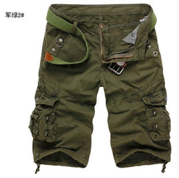 Wholesale 2798 HOT New Fashion Men s Military style Multi pocket trousers Casual Pants Casual Loose Leisure Cargo Carpenter Pants Shorts Pants