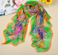Wholesale Special Big Size Scarfs Imitated Silk Square Scarves Circles Pattern Sarongs