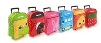 Wholesale school cuties kids travel rolling trolley luggage cartoon suitcase